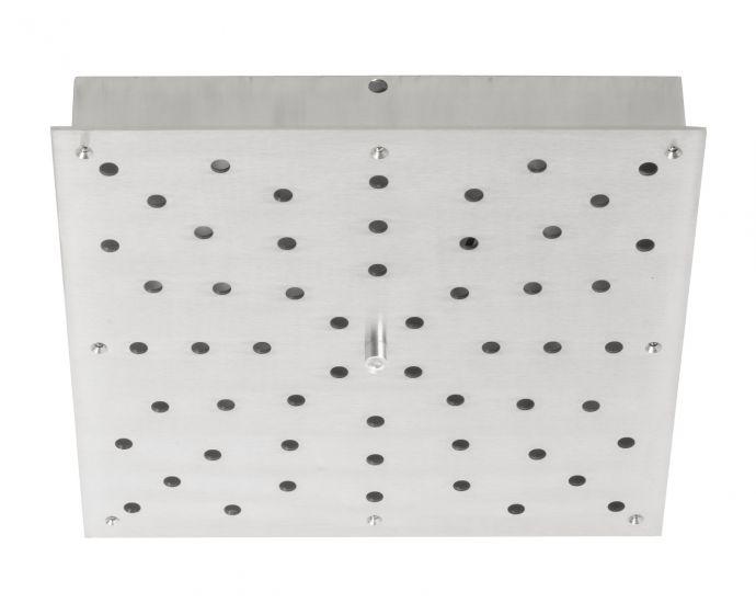 Ebb&Flow - Ceiling box, square, M, Silver,