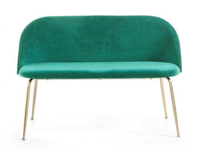 LaForma Mystere 2-sits Soffa - grön sammet