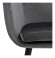 Amada matbordsstol med armstöd - Mörkgrå velour