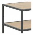 Newhaven Konsolbord - Ekmönstrat/mattsvart