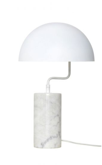 Hübsch Bordslampa m. marmorfot - Vit