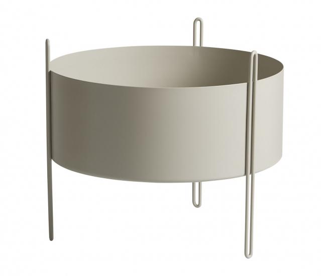 WOUD - Piedestal Flowerpot medium - Grå