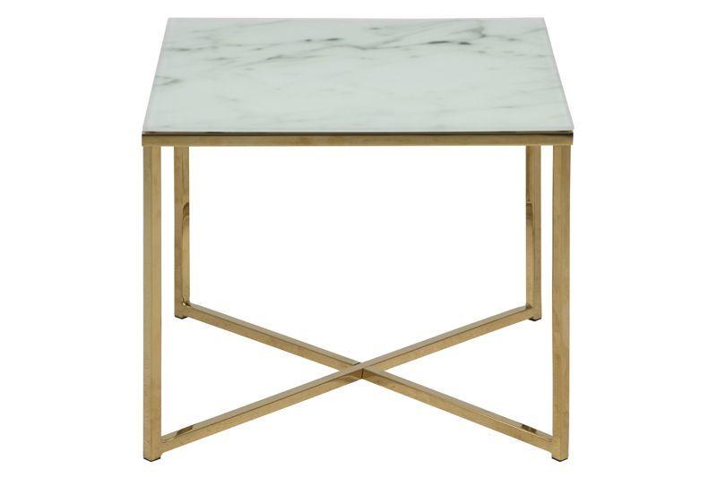 Filippa Hörnbord m/frostat Vit marmorprint