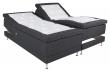 Vansbro Ställbar säng Fast/Fast med 5 komfortzoner, Mörkgrått tyg, 180x200  