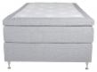 Furudal Kontinentalsäng Fast med 7 komfortzoner, Ljusgrått tyg, 120x200