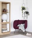 Hübsch Loungestol m. metallben - Bordeaux
