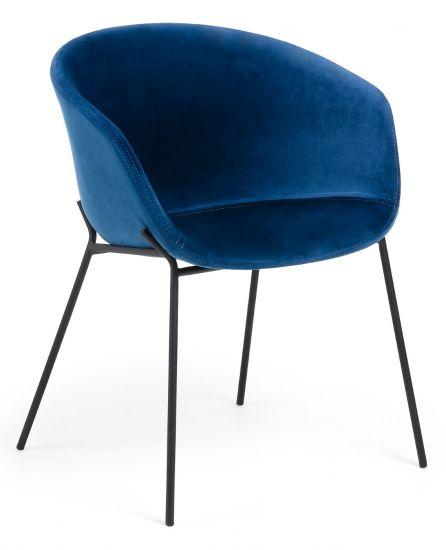 LaForma - Zadine Matstol m. armstöd - Blå sammet