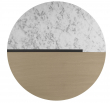 Temahome Sonata Soffbord - Vit Marmor/Ljus ek, Ø80