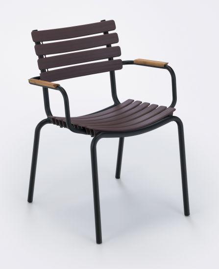HOUE - CLIPS Trädgårdsstol - Plum/Bambu