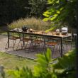 HOUE - FOUR Trädgårdsbord 270x90 Bordsskiva i bambu