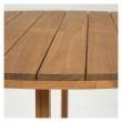 Kave Home Dafna Trädgårdsbord – Acacia med teakfinish, Ø120