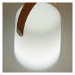 Kave Home Dialma LED lampa med rem – vit plast