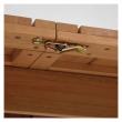 Kave Home Gaby Trädgårdsbord med utdragsskiva - Massivt eukalyptusträ, 183/240x100