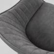 Kave Home - Herbert Matstol - Graphite läderlook