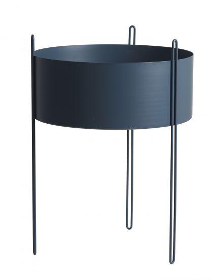 WOUD - Piedestal Flowerpot large - Blå