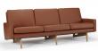 Kragelund Egsmark 3-sits soffa, Cognac Läder