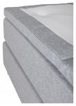 Älvdalen Kontinentalsäng Medium/Medium med 7 komfortzoner, Ljusgrått tyg, 180x200 