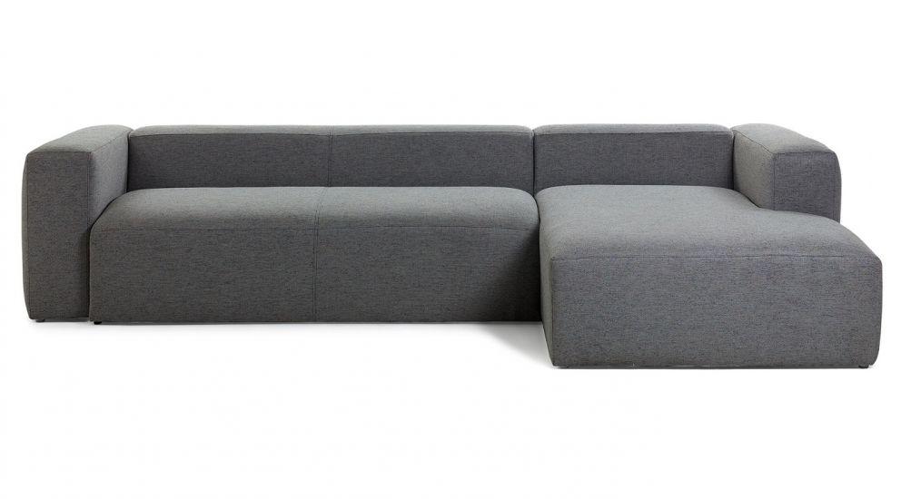 LaForma - Blok 3-sits Soffa m. högervänd divan  - Mörkgrå