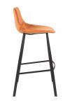 Dutchbone Franky Barstol  - Orange velour