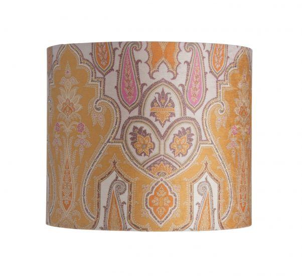 Ebb&Flow - Lampskärm, brocade, gul/pink, Ø35, bordslampa