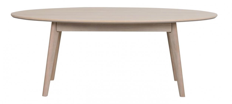Yumi Soffbord oval, vitpigmenterad ekfanér
