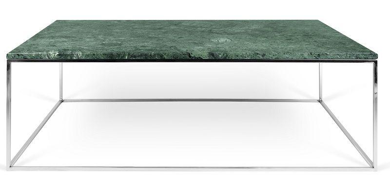 Temahome - Gleam Soffbord - Grön m/krom ben 120 cm