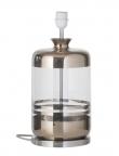 EBB & FLOW  - Pillar Lampfot, platin stripes/Klar, Silverbas