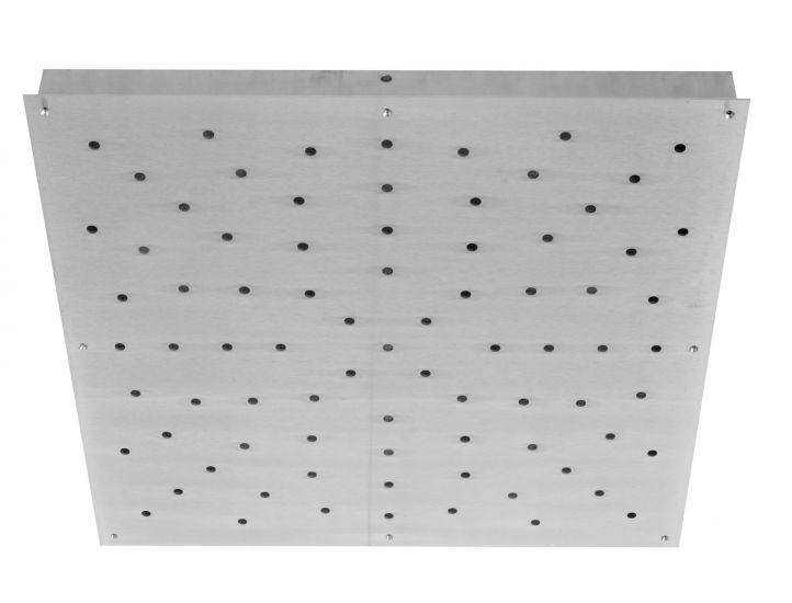 Ebb&Flow - Ceiling box, square, L, Silver,