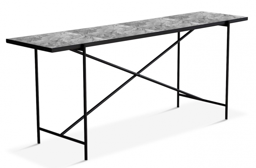 HANDVÄRK - Avlastningsbord 184x46 - Grå marmor