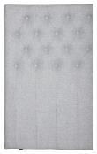 Furuvik sänggavel, Ljusgrått tyg, B:180