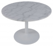 Cadiz Matbord Ø110 - Vit Guangxi marmor
