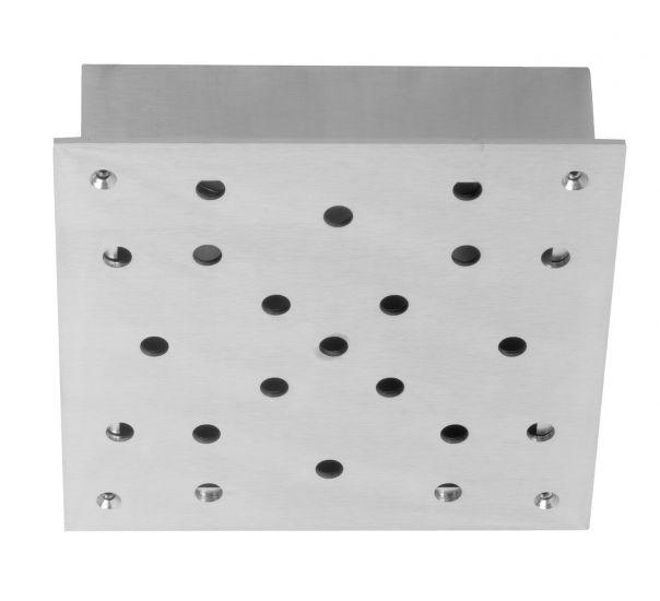 Ebb&Flow - Ceiling box, square, S, Silver