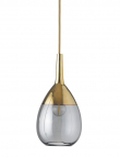EBB & FLOW  - Lute Pendel, S, smokey grå / Guld