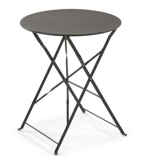 LaForma - Alrick Cafébord Ø60 - Matt svart