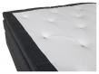 Rättvik Kontinentalsäng Fast/Fast med 5 komfortzoner, Mörkgrått tyg, 180x200