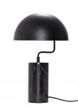 Hübsch Bordslampa m. marmorfot - Svart