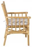 Cane Trädgårdsstol, Bambu m. grå dyna