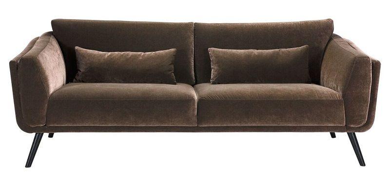 Pelham 3-sits Soffa - Brun Velour