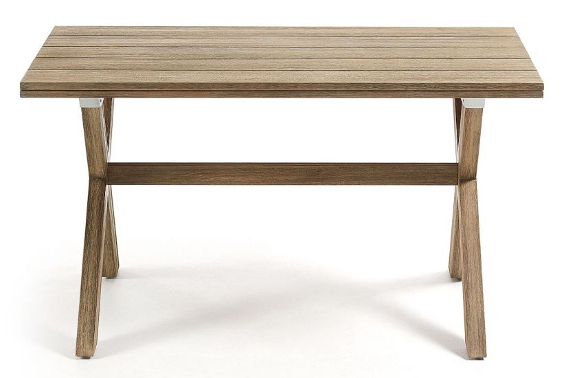Kave Home - Brilliant Trädgårdsbord 140x80 - Grå finish