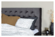 Furuvik sänggavel, Mörkgrå sammet, B:160 
