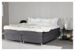 Rättvik Kontinentalsäng Medium/Medium med 5 komfortzoner, Mörkgrå sammet, 160x200 