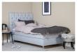 Särna sänggavel, Ljusgrått tyg, B:120 
