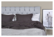 Särna sänggavel, Ljusgrått tyg, B:160 
