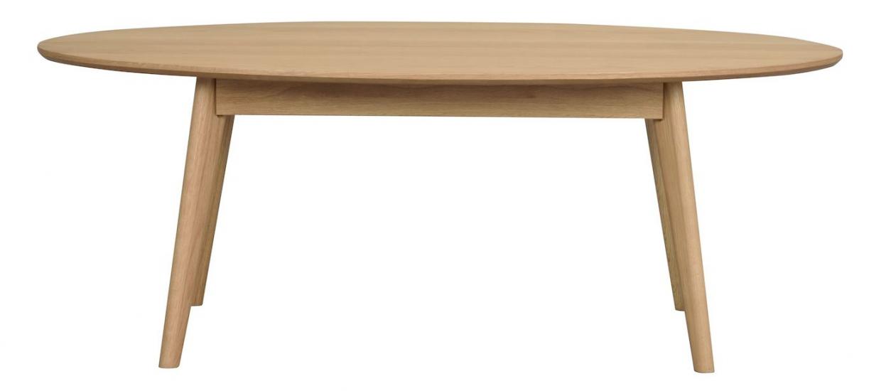 Yumi Soffbord oval, lackerad ekfanér