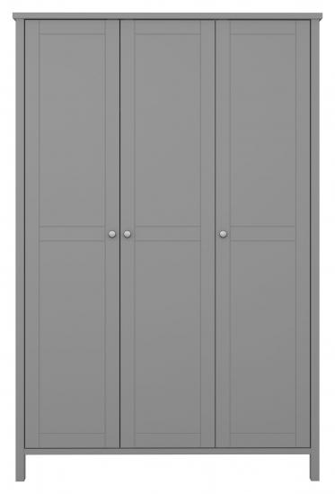 Tromsø Garderob med 3 dörrar, Grå