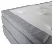 Rättvik Kontinentalsäng Fast/Fast med 5 komfortzoner, Ljusgrått tyg, 160x200