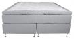 Furudal Kontinentalsäng Medium/Medium med 7 komfortzoner, Ljusgrått tyg, 180x200 