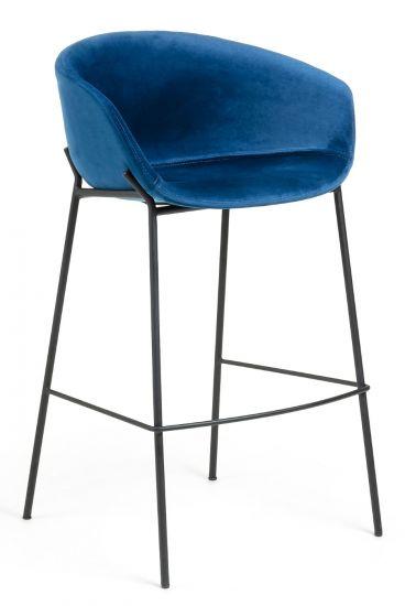 LaForma - Zadine Barstol - Mörkblå sammet