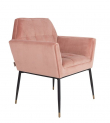Dutchbone - Kate Matstol m/armstöd - Pink clay