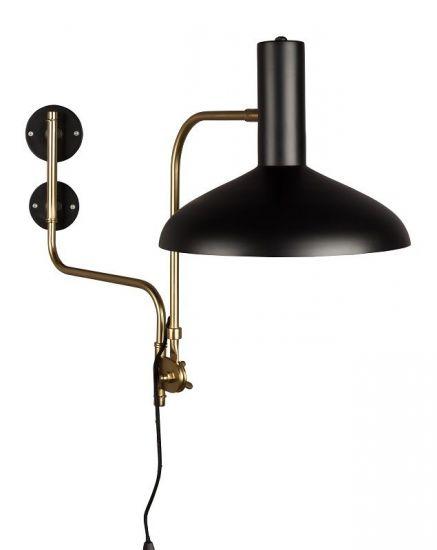 Dutchbone - Devi Vägglampa - Svart